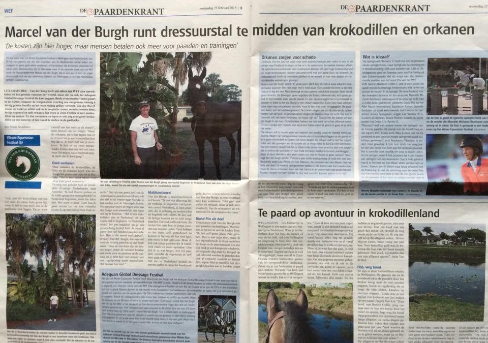 De Paardenkrant Interviews Marcel at Winter Equestrian Festival